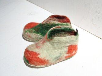 【baby】ファーストシューズ 12cm(グリーン マーブル)の画像