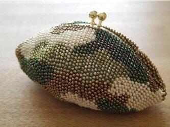 ビーズ編み がま口 【カモフラ】の画像