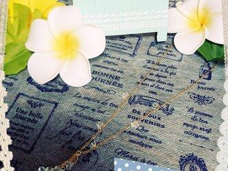 *white flower*(ネックレス)の画像
