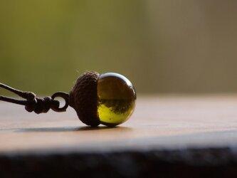 どんぐりネックレス(オリーブ)の画像
