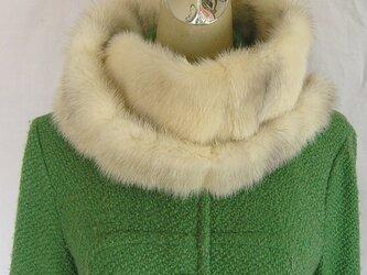 ¶ new antique fur ¶ クロスミンクファーゆったりnejiriスヌード「resen」の画像