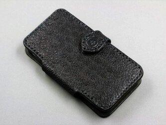 iPhone5手帳型ケース(ブラック)の画像