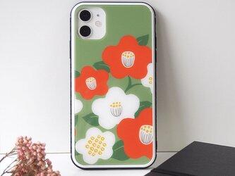 強化ガラスiPhoneケース【和な雰囲気の椿】の画像