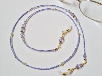 メガネストラップ・紫・04の画像