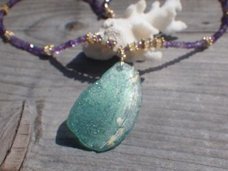 Roman Glass Amerhyst&Opal Necklace *sv925*の画像