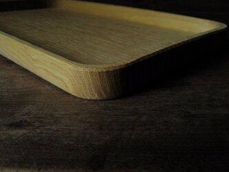 手彫り木地盆(割材)の画像