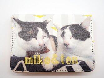オーダーメイド 名刺ケース カードケース ポイントカード メンズ レディース ペット 猫 メモリアル 大容量 うちの子の画像