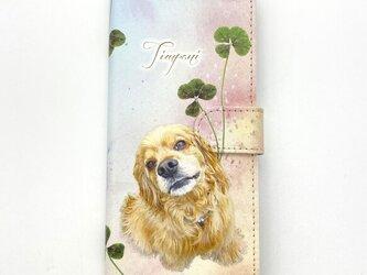 オーダーメイド スマホケース 手帳型 オリジナル ペット 犬 猫 メモリアル プレゼント メンズ レディース  うちの子の画像