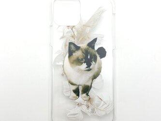 世界に一つ オーダーメイド スマホケース ハード ペット 犬 猫 うちの子 メモリアル プレゼント 親ばかの画像