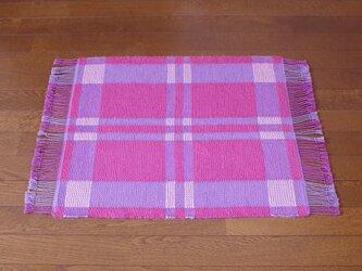 手織りマット P×P 幅53cmの画像