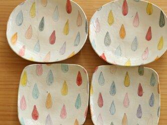 M様オーダー分 粉引きカラフルドロップのトースト皿とオーバル皿×2。の画像