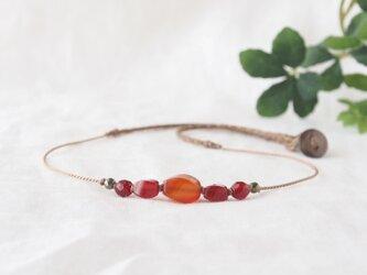 Orange×Red Short Necklaceの画像