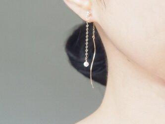14kgf:アメリカンピアスのようなイヤリング~一粒パール~の画像