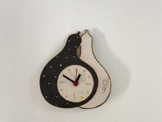 ひょうたんの掛け時計(陶器)の画像