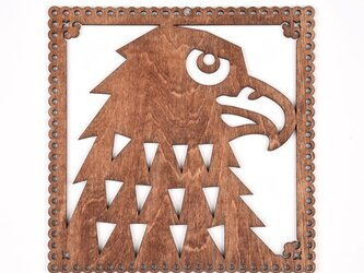 ウッドフレーム「イーグル」(木の壁飾り Wooden Wall Decoration)の画像