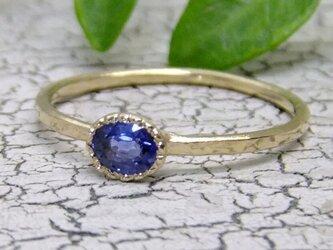 sapphire*K14lunapinkgold ringの画像