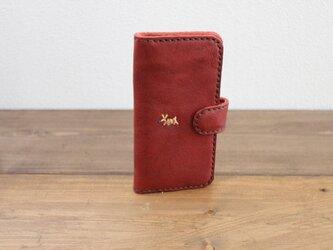 【山本様 ご注文のお品】栃木レザー 手帳タイプ 手縫いの スマホケース(iPhone7 / 8)の画像
