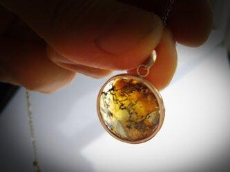 K10  琥珀色のネックレス(デンドリティック クォーツ)の画像