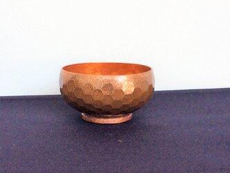 純銅/おちょこ 亀甲紋(オーダー制)の画像