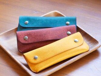 革のペンケース カラーオーダーの画像