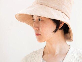 Organic Cotton  日よけ帽(茶綿ガーゼ)の画像