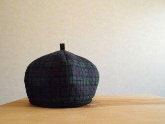 キルトニットのベレー帽 ブラックウォッチの画像