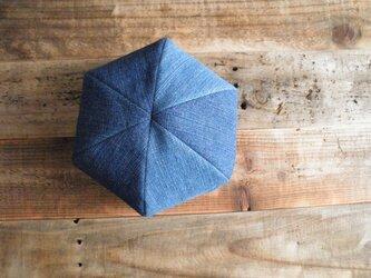 6枚はぎのベレー帽 スラブデニムの画像