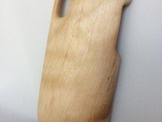 【受注制作】木製iPhoneケース(iPhone X用, 他)(カバザクラ)の画像