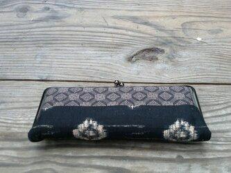 口金財布・絣柄ふうレトロ財布の画像