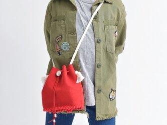 キッズハンドメイド[コロン] KIDS バッグキット【レッド】の画像