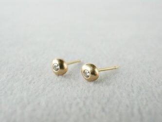 K18 Tsubu earrings / Diamondの画像