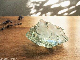 ガラスのインテリアオブジェ -「まるいガラス」#202 ● 約8cm●【1点限定制作 】の画像
