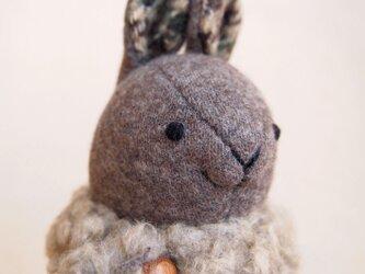 【受注制作】冬のウサギの画像