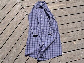 peruvian check shirt onepiece  ペルーヴィアンピマ播州織 シャツワンピースの画像