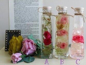フローラル・ピンクのバラの香り 3種より1本 ハーバリウム♬の画像