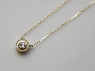 K10 Rosecut diamond necklace★ローズカット★ダイヤモンド★ネックレス★華奢の画像