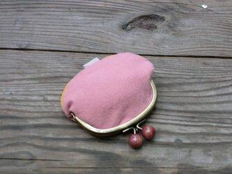 ふんわり桜色の小銭入れの画像