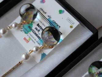 煌きイヤリング/ フランス製金具使用の画像