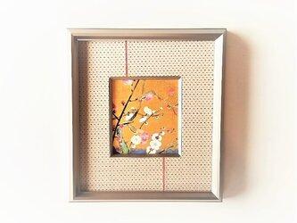 「紅白梅」 日本画【額縁入り】の画像