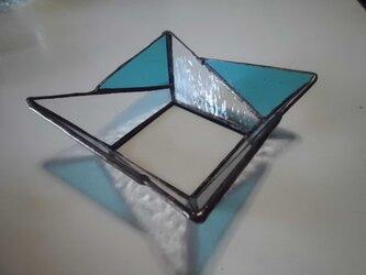 ステンドグラスフラワートレーの画像