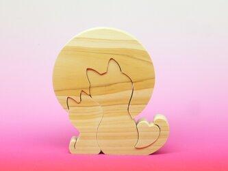 送料無料 木のおもちゃ お月見デートの画像