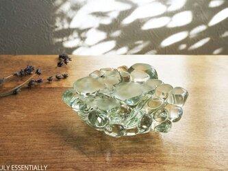 ガラスのインテリアオブジェ - TAMAのえん #303●( 約8cm角 )の画像