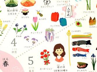 季節感が身につく四季ポスター♪A2サイズの画像