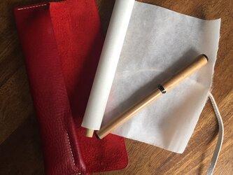 【受注生産】革ケース入り 和紙のお手紙セット「恋文 -Koibumi-」の画像