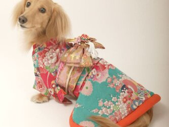 【犬着物】花扇 オーダーメイド デザイン着物の画像