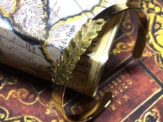 シマフクロウの羽 バングル(ゴールド×ゴールド)の画像