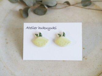 磁器で作ったピアス〈 レモン 〉の画像