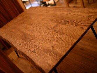 ※受注製作※古材風・クリ材耳付きビンテージ&アンティーク調ダイニングテーブルの画像