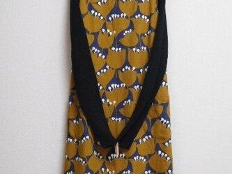 木綿のジャンパースカート 北欧ブラウンの画像