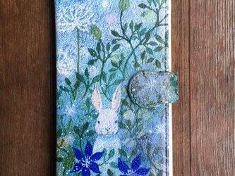 在庫品SALE! 2800円/andoridM/手帳型スマホケース「光の庭」の画像